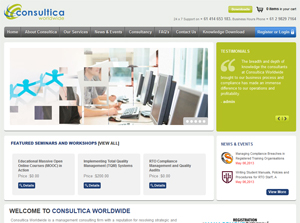 Consultica Worldwide Australia Web Design