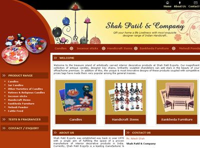 Shah Patil & Company India Web Design