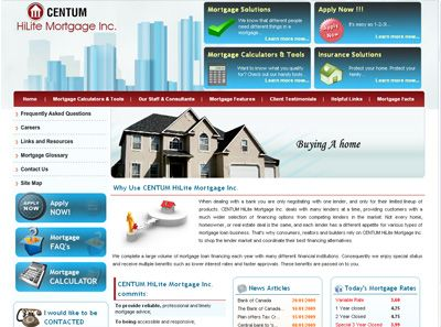 Centum Hilite Mortgage Inc. Canada Web Design