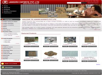 Jangirh Exports Pvt Ltd India Web Design
