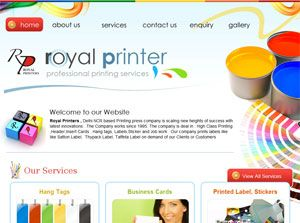 Royal Printers - Printing & Publishing Web Design Portfolio India: www.weblinkindia.net/portfolio/royal-printers.htm