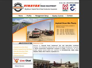 Vinayak Road Equipment India Web Design