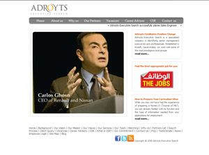 Adroyts Executive Search Saudi Arabia Web Design