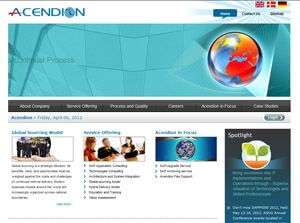 Acendion. Denmark Web Design