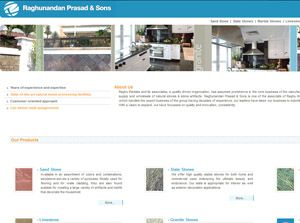 Raghu Marbles India Web Design
