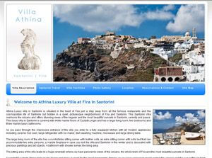 Athina Luxury villa Greece Web Design
