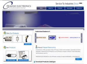 Prakash Electronics India Web Design