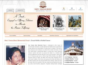 Smt. Veena Rani Memorial Trust India Web Design