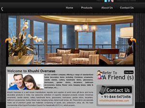 Khushi Overseas India Web Design