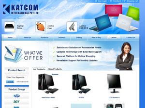Katcom International Pvt. Ltd. India Web Design