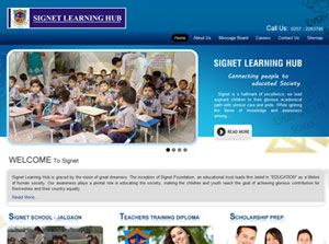 Signet Learning Hub India Web Design